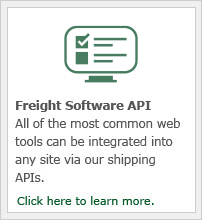 All of our most common web tools can be integrated into any site via our shipping APIs.