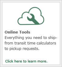 Everything you need to ship from transit time calculators to pickup requests.