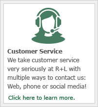 We take customer service very seriously at R+L with multiple ways to contact us on our website, through social media and on the phone.